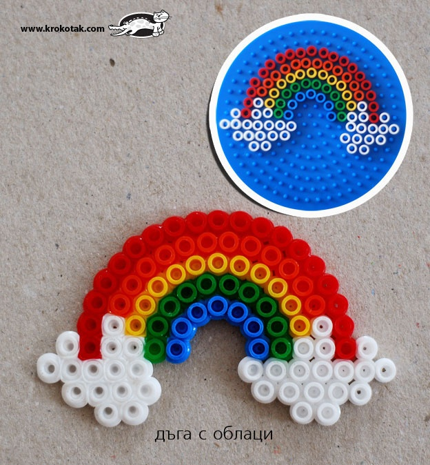 rainbow PYSSLA Beads