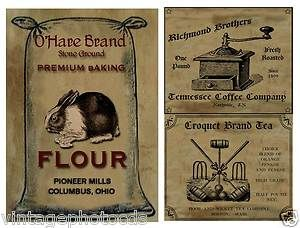 pantry label printables to purchase | Primitive Farmhouse Pantry Labels Set Sheet 57 | eBay