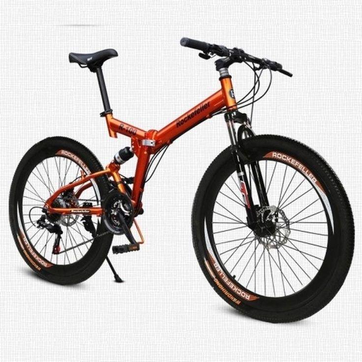 26'' Folding Mountain Bike 21 Speed Cycling Road Bicycle Disc Brake Sport RTM US