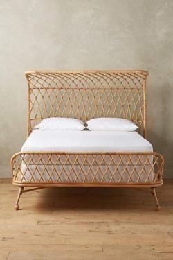 Einzel Doppelbett Betten Rattanbett Rattan Bett Handgefertigt In