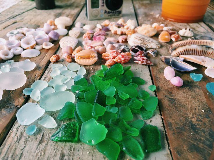 Sea Glass and Shells North Shore Oahu