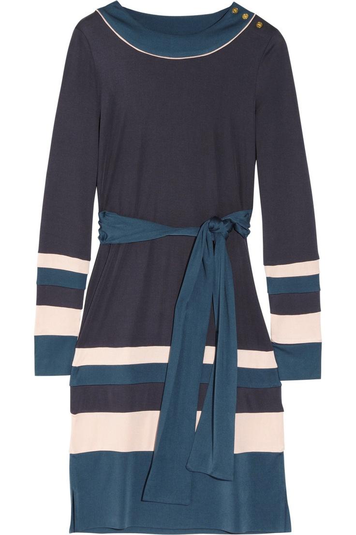 Tory Burch  Gina color-block silk-jersey dress  £287.50     NET-A-PORTER.COM