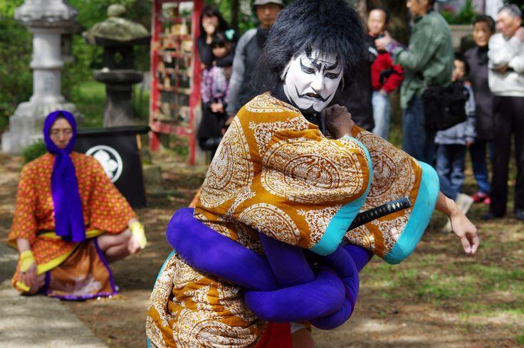 08 Akita Hachirogata town Gannin Dance Japan 2015 2015年5月5日 八郎潟町 一日市神社 大人願人踊り