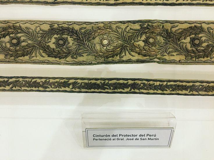 Cinturón del Protector del Perú. Visita al Museo Histórico Nacional