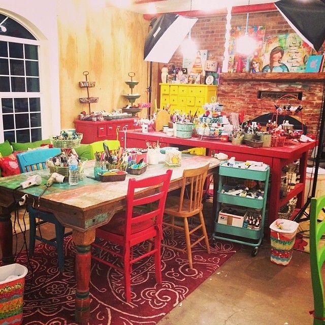 Christy Tomlinson's studio
