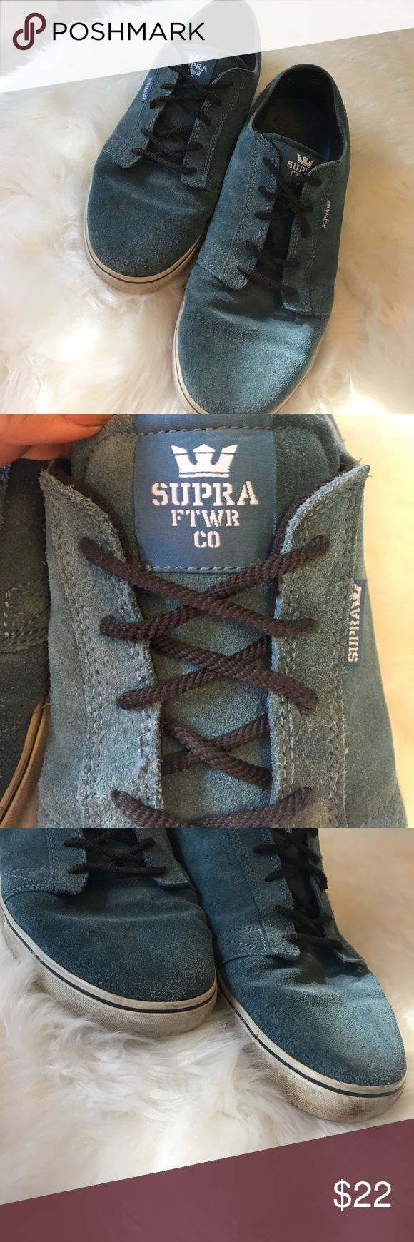 Blue Supra sneakers Worn a lot in good condition just need a wash as you can see from the photos, very comfy Supra Shoes Sneakers