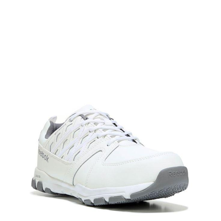 Reebok Work Men's Subtile Work Medium/Wide Steel Toe Sneakers (White Leather) - 15.0 W
