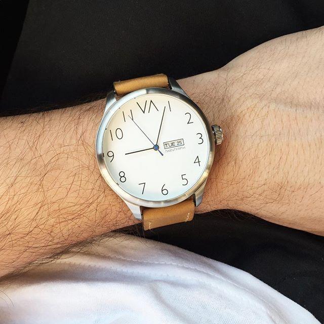White on Tan - link in bio to order _______________________________________________  #ootd #watches #watchesofinstagram #fashion #mensfashion #menswear #whatiwore #dream #success #motivation #friends #kickstarter #watchporn #fashionblogger #boss #goodlife #love #amazing #menswatches #watchdaily #blogger #watchdaily #instadaily #urban #dream #design #watchfreak #crowdfunding #photooftheday
