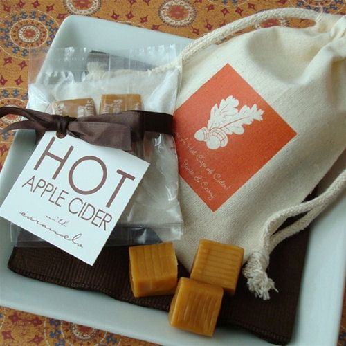 Halloween Wedding Gift Ideas: 25 Personalized Hot Apple Cider Fall Favors, Halloween