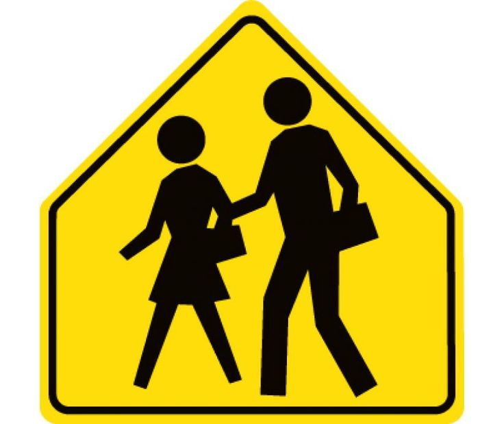 "School Crossing Symbol, National Marker TM301DG, 30""x30"", Black On Fluorescent Yellow, 85 Percent Recycled .080"" Diamond Grade Reflective Aluminum Pedestrian And School Traffic Sign With 2 Holes For Post Mounting - Each"