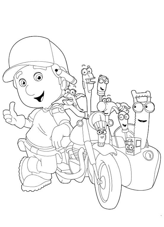 Printable The Tools With Handy Manny Coloring Pages