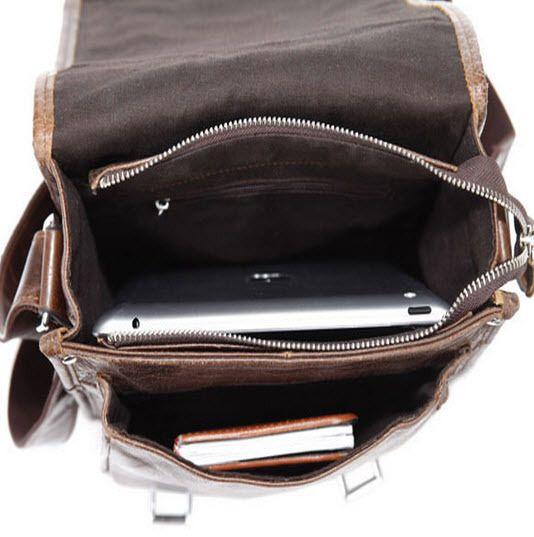 "ModernManBags.com - ""Chattanooga"" Men's Leather Vertical Messenger Bag"
