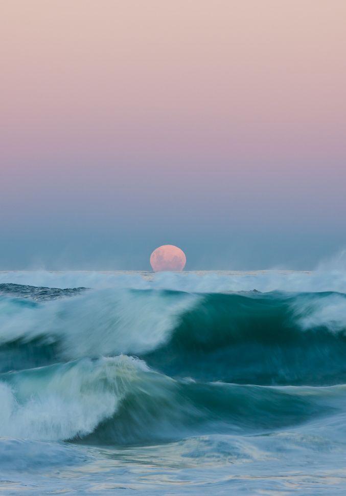 Readhead Beach Moonrise by Ron Archer