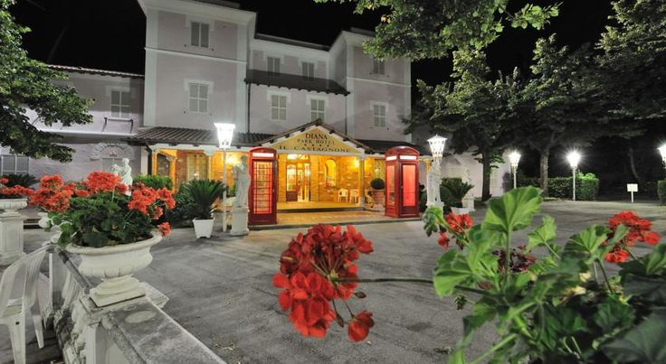Diana Park Hotel Nemi The Diana Park Hotel is located in a quiet area on the Via Nemorense, that runs between Genzano di Roma and Nemi, a small town known for its strawberries which is perched above the lake.