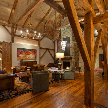 17 best images about pole barn ideas on pinterest pole for Post and beam living room ideas