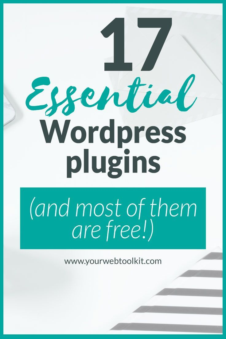 17 essential WordPress plugins. #WordPress plugins help you to expand functionality of your #website, making it easier to turn website subscribers into leads for your business, and grow your revenue.  In this post I share 17 of my favourite plugins that I think are the best WordPress plugins for bloggers and business owners.  #onlinemarketing #blogging #business
