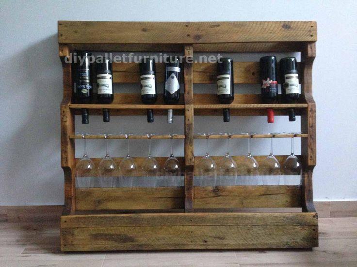 17 meilleures id es propos de casiers bouteilles palette sur pinterest vin palette - Range bouteille en palette ...