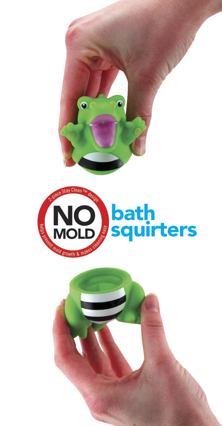 Bath time toy - 6+ Months - Stay Clean Silly Squirts help prevent mold growth
