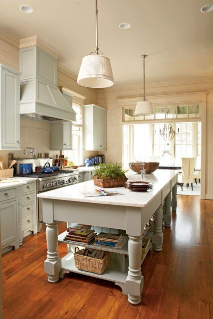 Very nice kitchen...Captain's Watch plan #1426 (kitchen colors and opening to breakfast area)