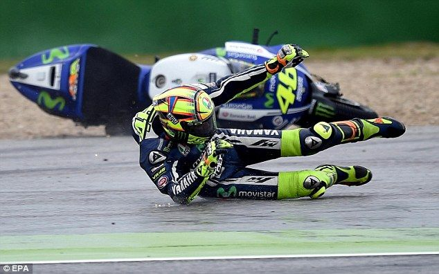 Valentino Rossi is behind Honda duo Marc Marquez and Dani Pedrosa in the MotoGP standings