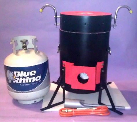 how to build a metal melting furnace