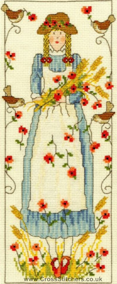 Country Lass - Poppy - Bothy Threads Cross Stitch Kit
