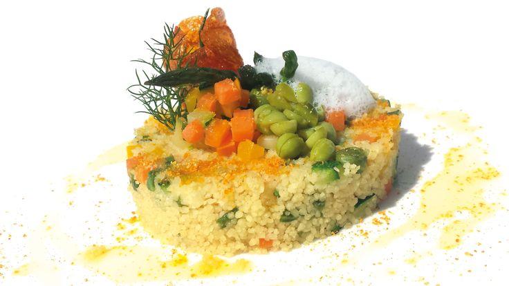 """""""Cous Cous vegetariano agrumato con aria di mandorla"""" di Maurizio Urso, chef del Ristorante La Terrazza sul Mare del Grand Hotel di Ortigia (SR)  #food #vegan #lamadia"""