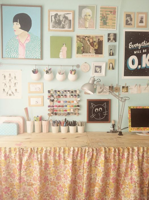 Organization is a many splendored thing!: Crafts Area, Work Area, Studios Spaces, Crafts Rooms, Offices Spaces, Crafts Spaces, Work Spaces, Workspaces, Art Rooms