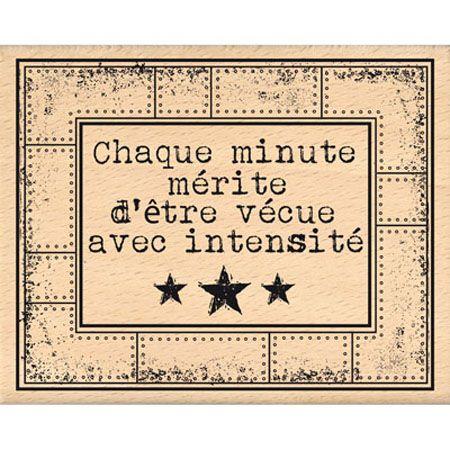 Tampon bois - Histoire de Style - Cadre à Rivets - 9 x 7 cm