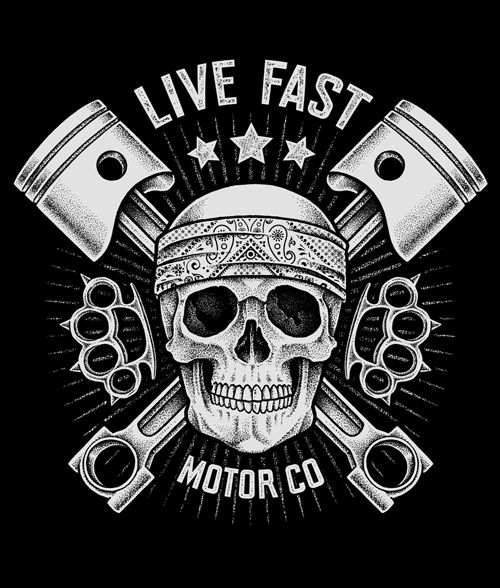 T-shirt designs for Couster, Sportowo Na Stylowo & Live Fast Motor Co.