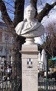 Il busto di padre Angelo Secchi al Pincio