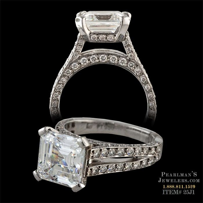 Gumuchian diamond pave Eiffel Tower engagement ring from Pearlman's Jewelers.