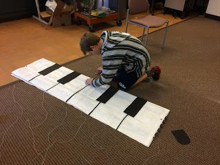 LIBRARY AS MAKERSPACE: Makey Makey Floor Piano
