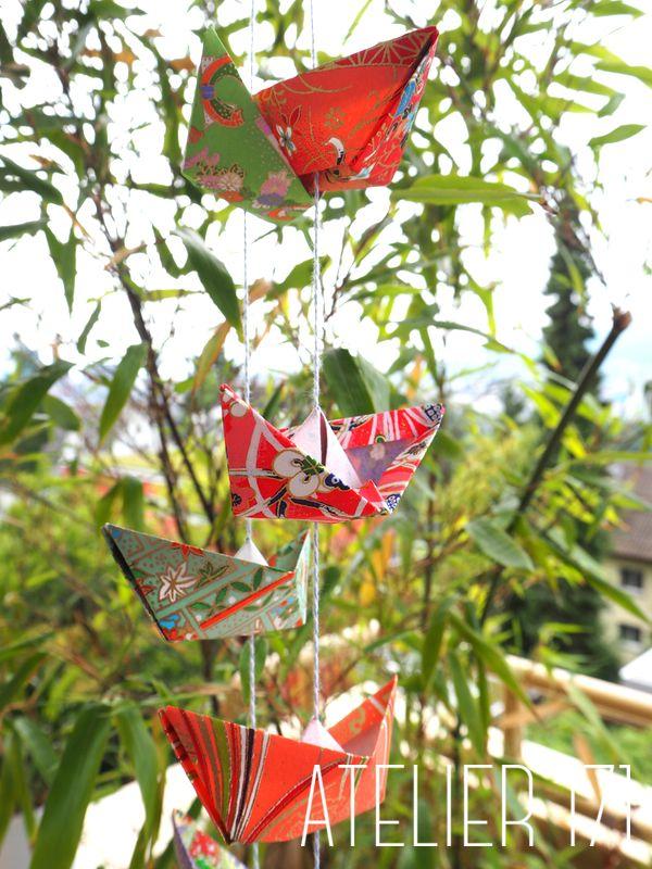 Boat garland - Origami paper atelier171.com