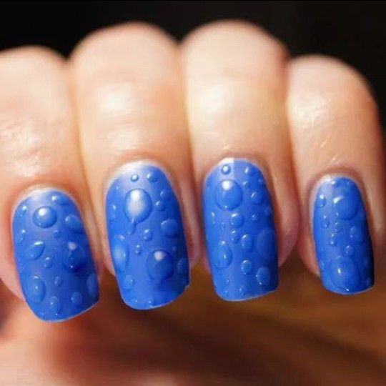 Blue drops nail desing #nailart #nails