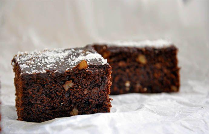 Gluten-Free Vegan Brownies Negrese fara gluten vegane fara zahar