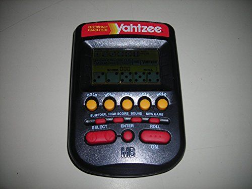 1995 Milton Bradley Yahtzee Hand Held Game Works Great >>> You can find more details by visiting the image link. Note:It is Affiliate Link to Amazon. #funny