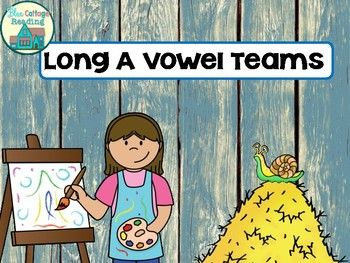 This phonics mini unit provides lots of practice with the long a vowel teams ai, ay, ea and eigh.This set is packed with fun word work resources to help with your phonics lessons. This would be great for homeschooling, tutoring, literacy centers or remediation.