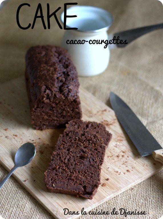 Cake au cacao et courgette