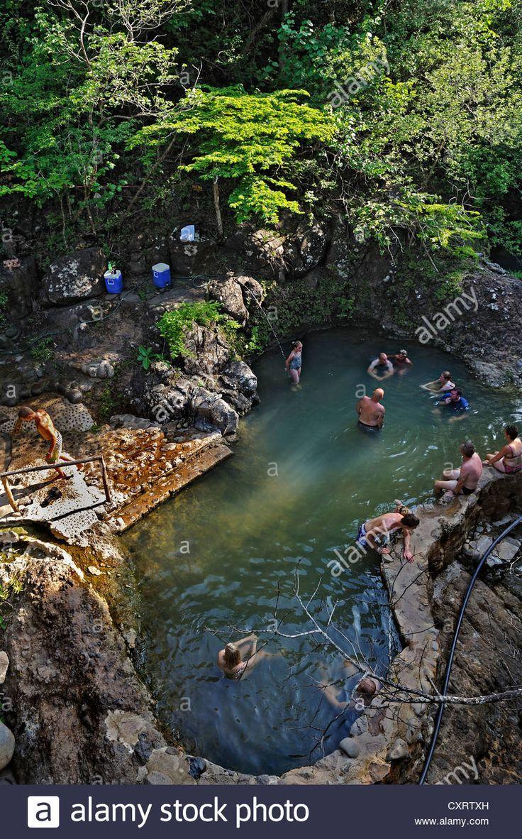 Hot springs near the Hacienda Guachipelin, near Liberia, Guanacaste province, Costa Rica, Central America
