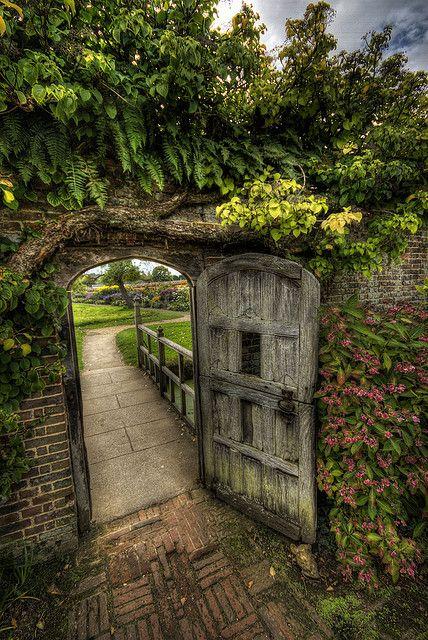 garden gate.  Oh love...Plus, it's a dutch door, which makes it even better.