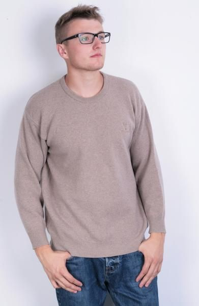 Lyle&Scott Scotland Mens L/XL sweater Crew Neck Mushroom - RetrospectClothes