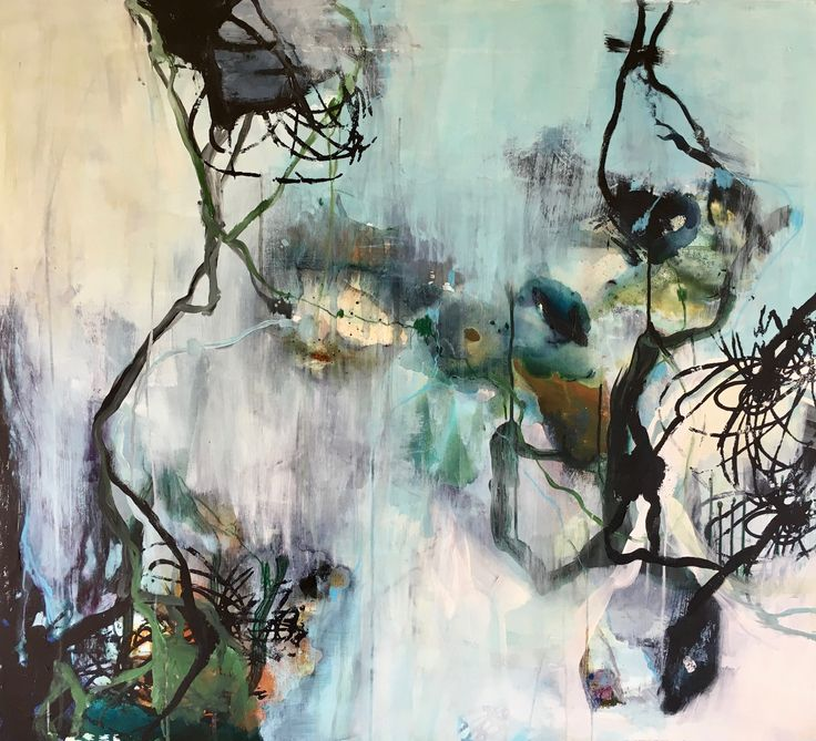 Abstract painting danish artist paper art
