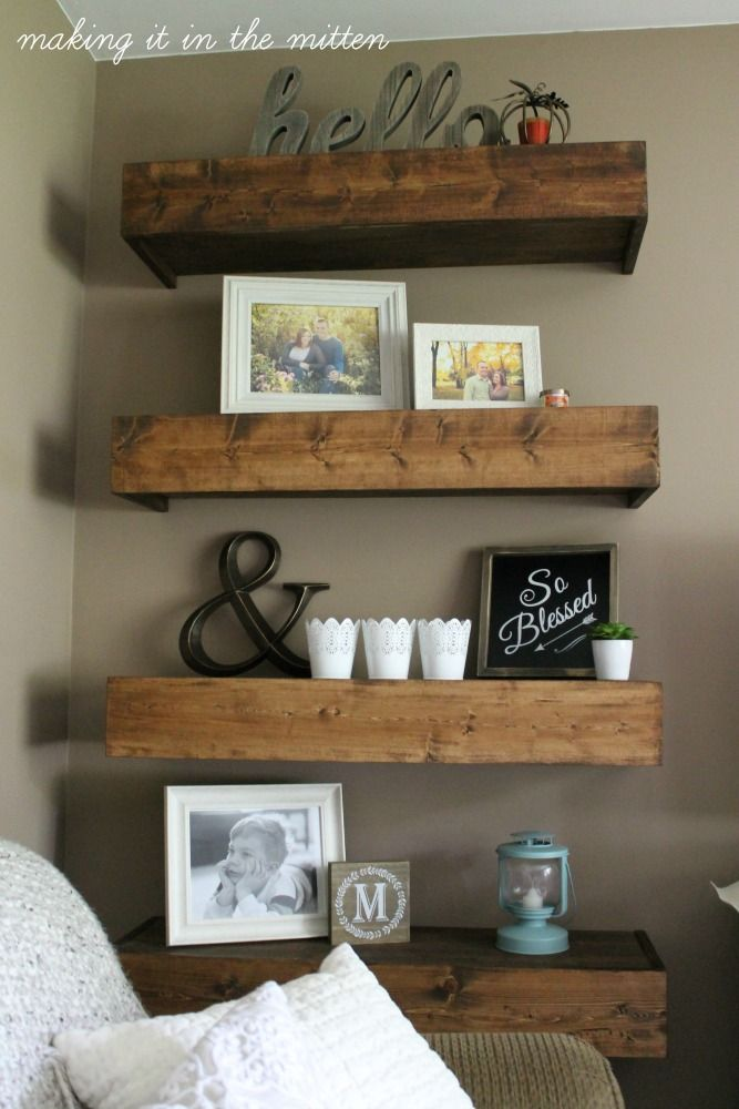 25 best ideas about diy wood shelves on pinterest the shanty rustic decorative plates and - Living room multi use shelf idea ...