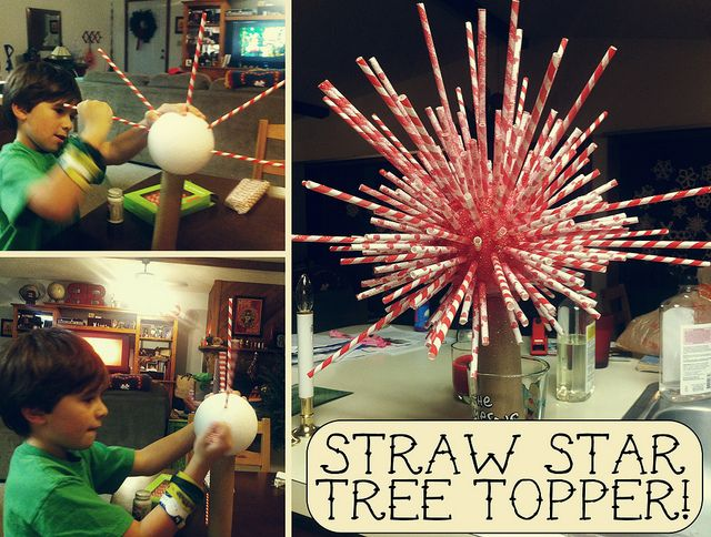Paper Straw Star Christmas Tree Topper