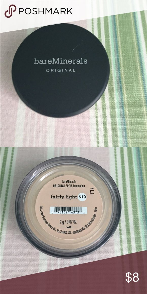 Bare Minerals Powder Foundation. NWT Bare Minerals Original Foundation Broad Spectrum SPF 15. Color=Fairly Light .07oz. Ten NWT. Buy individually or will accept best offer for all. bareMinerals Makeup Foundation