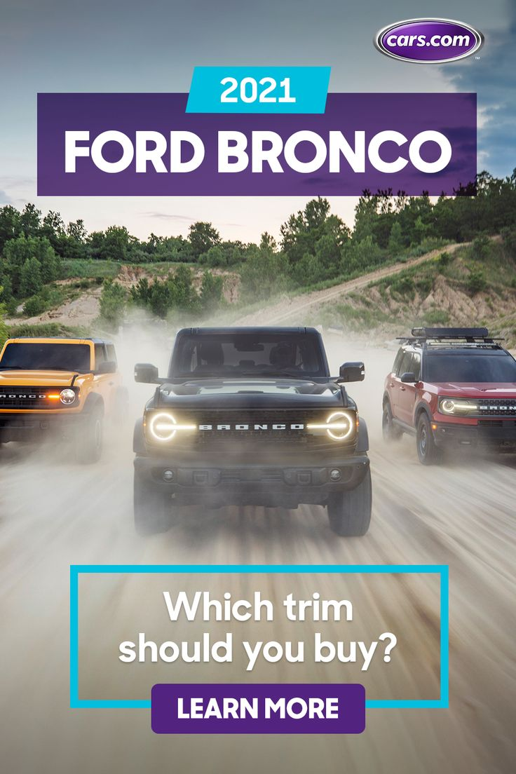2021 Ford Bronco What's Each Trim Level of the Bronco