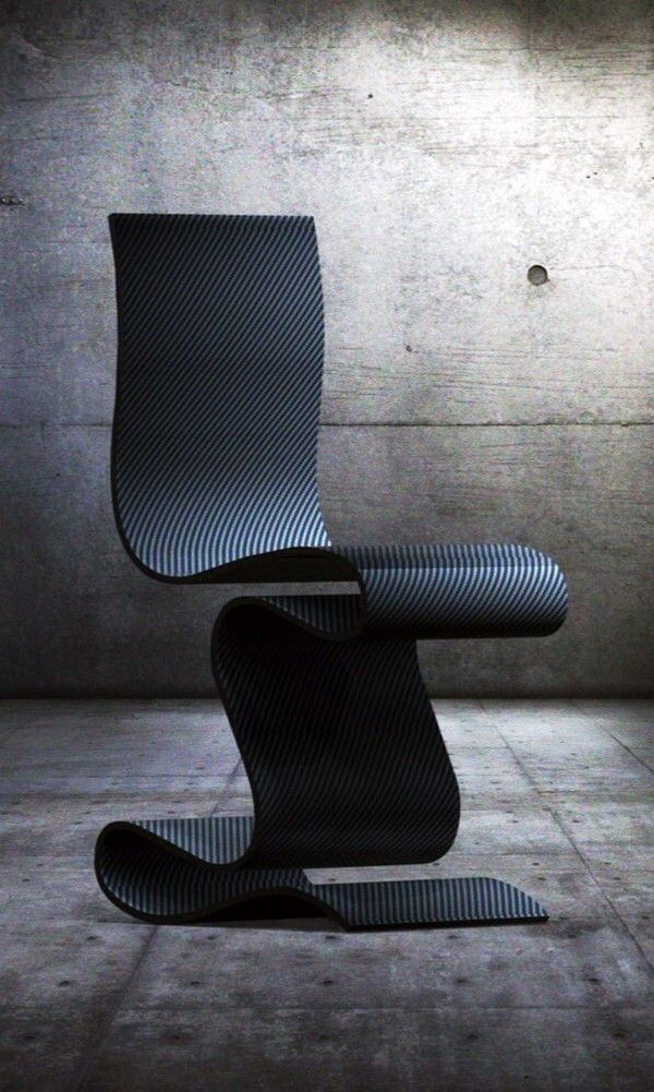 sculpture is a beautiful carbon fiber chair by paris based designer team ventury lab an carbon fiber tape furniture