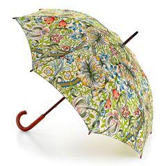 paraply, polyester, trähandtag, william morris, malmö