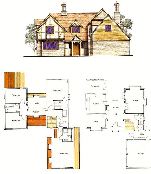 4 bedroom house plans uk - Google Search